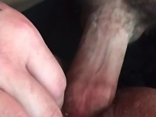 HUSBAND FUCKS AND CUMS ON HAIRY PUSSY