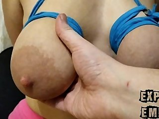 Huge saggy tits were tied and punished