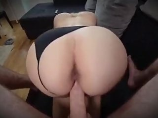 Step son fucking Italian step mom without condom while dad works