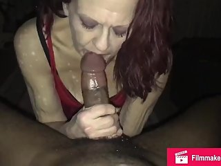 Candy takes extreme throat fucking by a huge black cock then he cums in her