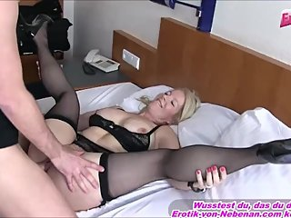 German housewife milf get creampie from younger guy huge cum load