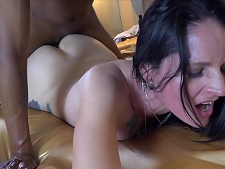HOTWIFE calls CUCK & makes him listen while she gets FUCKED BY BBC in VEGAS