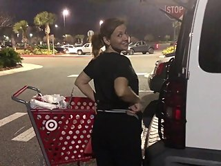 MILF Caught Exposing Her Ass In Target Parking Lot