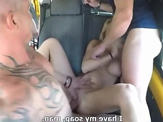 MILF Gets Hardcore Gangbang in Bus