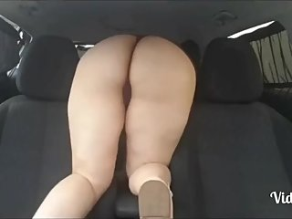 Step son failes fucking step mom in the car having erection problem