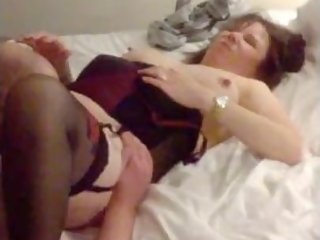 Hubby fucking wife whilst young bull films
