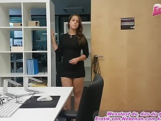 female boss secretary  in office fucks guy