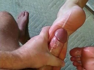 Becky Tailor fuck and footjob for one lucky husband