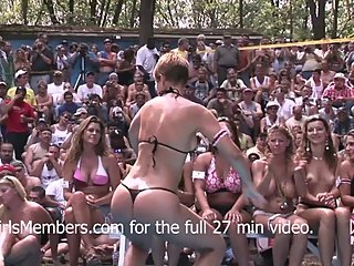 Bikini Contest At Nudist Resort Goes Completely Out Of Control