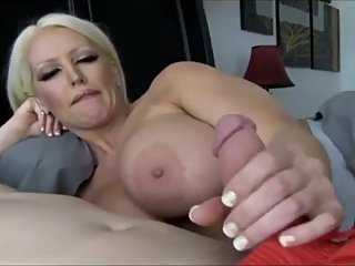 Shameless MILF with big tits seduces boy with big cock