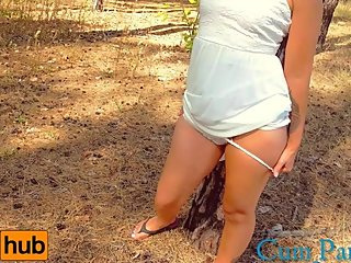 Cum_Panties while walking in the park