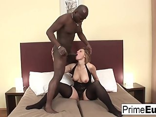European MILF Magda wants to try some big black cock!