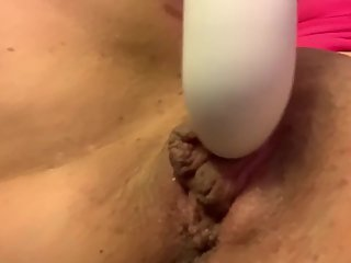 Up close wet pussy orgasm