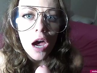 #37 Melody Radford BIG TIT MILF Sexy Toy Show While Wearing Clear Aviators