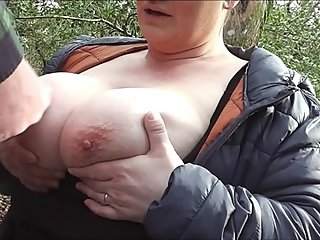 Wife Drains a Strangers Balls In The Woods