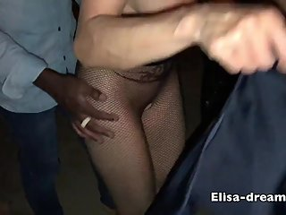 Hot wife gets fucked by her BBC in a dogging place