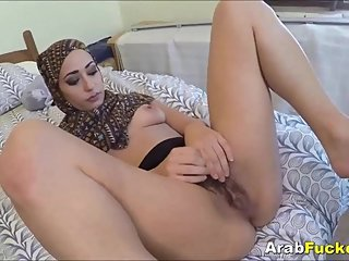Poor Arab Milf Desperate For Cash Sucks & Fucks Huge White Dick