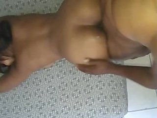 GIVING MY SLUTTY AMATEUR WIFE A COCK BEATING !!