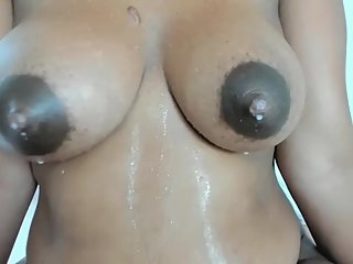 Huge tits w dark areolas lactating milk Part 2
