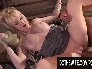 Do The Wife - Plowing Blonde Wives While Their Cuckolds Watch Compilation 4