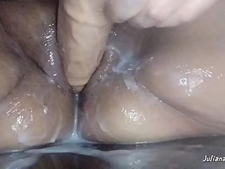 Slutty MILF Plays with SQUIRTING Cock