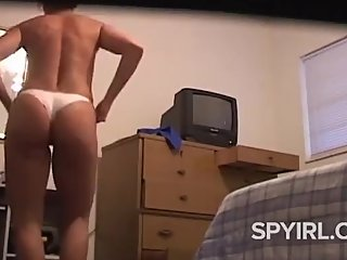 Hot Blonde Milf in Bedroom-Dressing Room Spy Cam