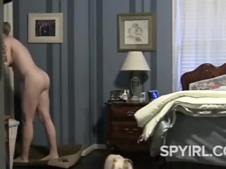 Hot Milf Spied in Bedroom-Spy Cam Clip