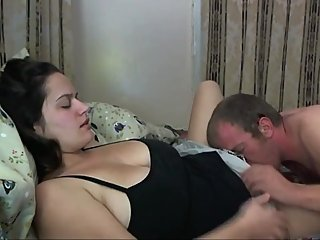 Sexy MILF gets her hairy pussy filled up with cum by her boss