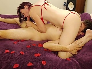 He Fucks Me Rough For Valentines Day And Fills My Tight Pussy With Cum