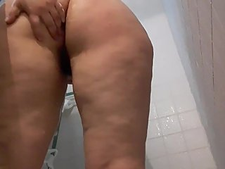 Juicy ass shower time