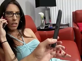 Cheating wife gets creampie from ex while talking on the phone