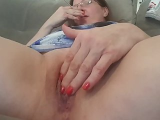 Up Close Pussy Play While Smoking