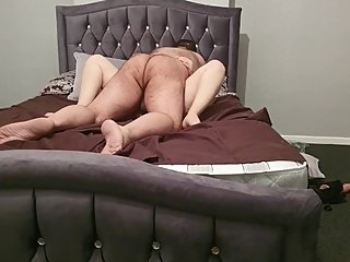 Step mom screaming orgasm while step son fuck and cums inside in 60 seconds