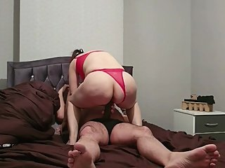 Step mom can't take 12 inch of cock from step son let him with blue balls