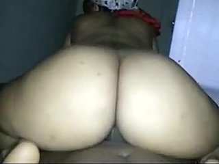Big Booty Redbone Riding Superexplicits Big Ebony Cock in Reverse Cowgirl