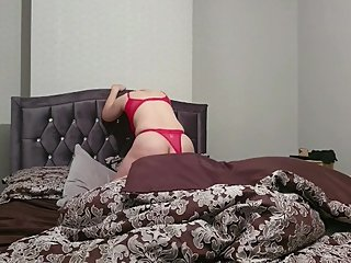 Step mom facesitting on step son wet pussy licking and loud orgasm