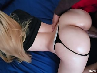 Interracial Sexy Pawg Gets Rammed From Behind By BBC Until He Creampies Her