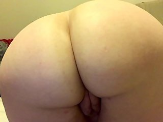 Playing with my fat ass