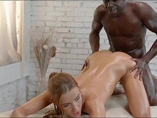 SEXY MOM DEEP MASSAGE SEX THERAPY WIHT HUGE BLACK DICK
