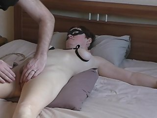 Amateur milf tied up fucked and swallow cum