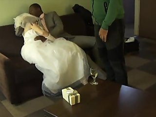 Blonde Bride Fucked By BBC Bull While Husband Is Filming