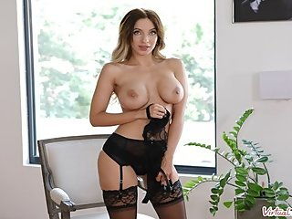 VIRTUAL TABOO - Busty Hottie Fucks Herself