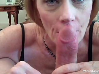 Cocksucker Melanie Is The Hottest MILF Around