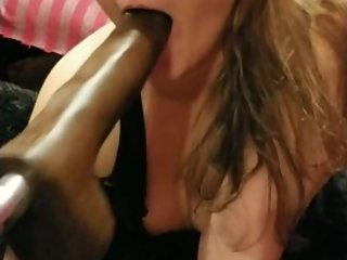 BBC Dildo Facefuck