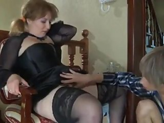 Naughty amateur MILF having fun with her perverted stepson