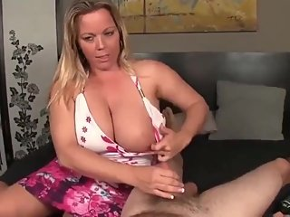 Shameless MILF with big boobs made her roommate cum twice