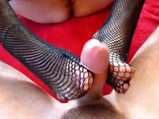 LuandJi footjob and fuck hard niples