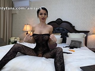 bodystocking and ponytail - anisyia livejasmin
