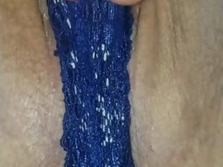 Peirced Step moms teasing pussy close up