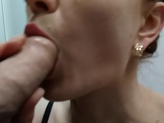 Very risky cum in dressing room